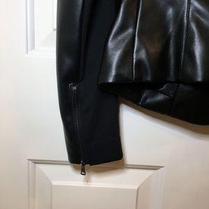 bebe Jackets & Coats - BEBE Leather Jacket — Black Vegan Leather Jacket